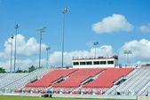 Empty Football Stadium Bleachers — Stock Photo