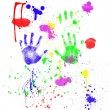 Child's Fingerpainting - Stock Photo
