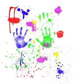 Child's Fingerpainting — Stock Photo