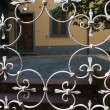 Decorative grating in the Tuscan style — Stock Photo