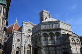 Florence - Duomo and Baptistery — Stock Photo