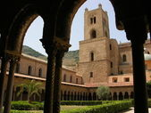 Monastery of Benedictine monks on sicily — Stock Photo