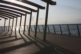 Lido di Camaiore - modern pier — Stock Photo