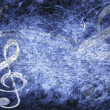 Musical background in grunge style — Stock Photo