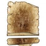 Rough antique parchment paper scrolls — Stock Photo