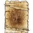 Three antique parchment paper scrolls, — Stock Photo