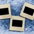Vintage blank slide photo frames — 图库照片
