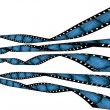 Curvy film strips, vintage blue grunge — Stock Photo