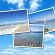 Collage of summer beach images — Stok fotoğraf