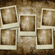 Vintage retro instant photo frames — Stock Photo