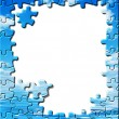 Blue sky with water, puzzle border — Stock Photo