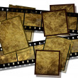 Film strip and film plates, vintage — Stock Photo