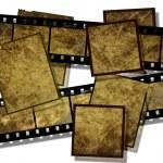Film strip and film plates, vintage — Stock Photo