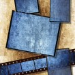 Film strip and film plates, grunge — Stock Photo #1789295
