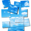 Summer sky and ocean image on white - Stock Photo