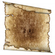 Rough antique parchment paper scroll — Stock Photo
