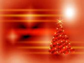 Red sparkling Christmas tree — Stock Photo