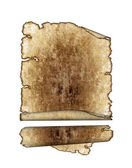 Rough antique parchment paper scrolls — Stock Photo