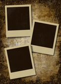 Vintage instant photo frames — Stock Photo