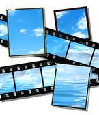 Striscia di pellicola e lastre di pellicola con orizzonte — Foto Stock