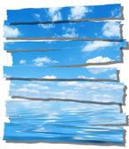 夏季的天空和海洋图像上白 — 图库照片