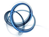 Dynamic blue rotational motions — Stock Photo