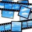 Summer sky and ocean image, film strip — Stock Photo