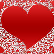 Red hearts, valentines background — Stock Photo