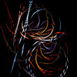 Colorful braided fibers — ストック写真 #1796135