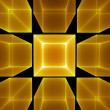 Stock Photo: Golden cubic perspective