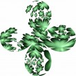 Stock Photo: Four leafed clover on white, shamrock