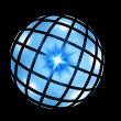 Royalty-Free Stock Photo: Blue sphere on black
