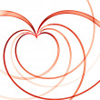 Valentines  red linear heart — Stock Photo