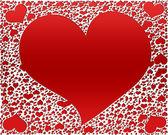 красные сердечки, валентина фон — Стоковое фото