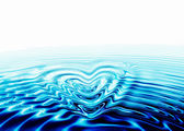 Whirlpool forming a heart — Stock Photo