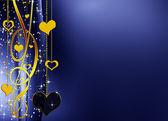 Narin mavi ve altın arka plan — Stok fotoğraf
