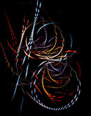 Colorful braided fibers — Stockfoto