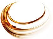 Golden whirlpool, dynamic motion — Stock Photo