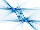Blue abstract rays reflection on white — Stock Photo