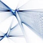 Binary code data flow — Stock Photo