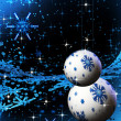 Abstract sparkling blue holiday bulbs — Stock Photo #1804242