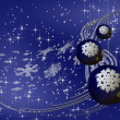 Blue Christmas balls with snowflakes — Stock Photo