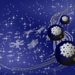 Blue Christmas balls with snowflakes — Stock Photo #1804615