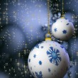 Snowflake Christmas balls — Stock Photo #1804638