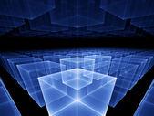Blue cubic horizon — Stock Photo