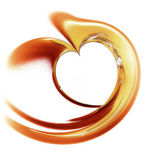 Golden heart on a white background — Stock Photo