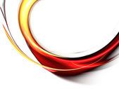 Red abstract waves on white background — Stock Photo