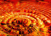 Molten lava ripples — Stock Photo