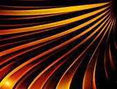 Wavy golden rays — Stock Photo