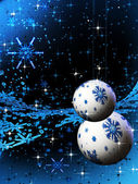 Abstract sparkling blue holiday bulbs — Stock Photo